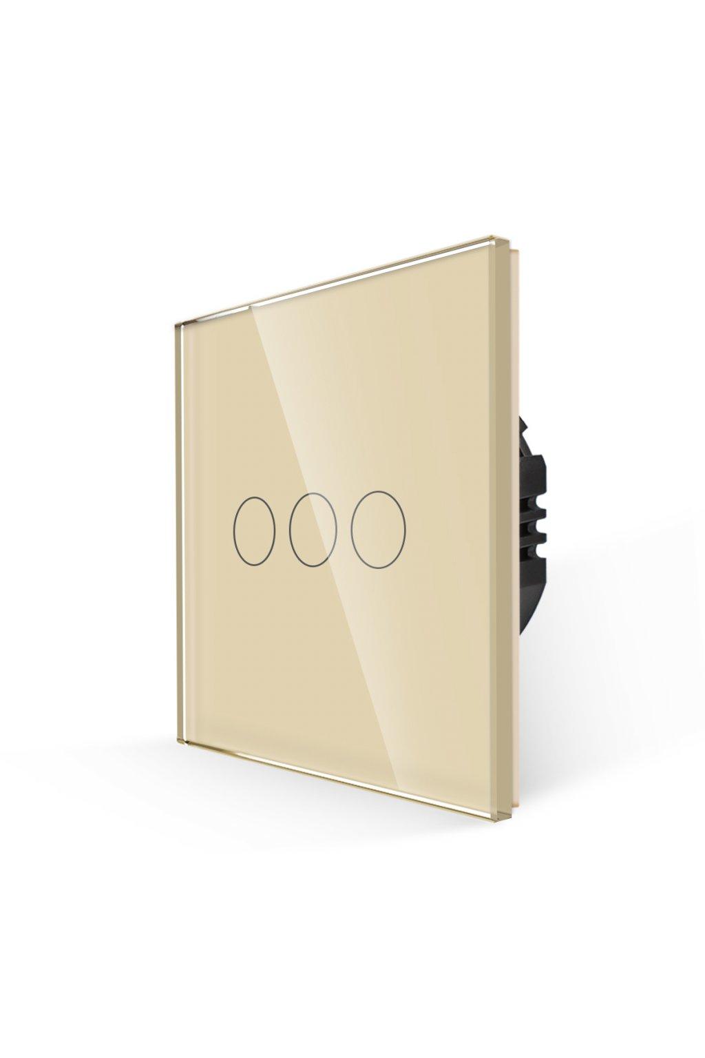 Dotykový vypínač - SILICON CONTROL - radenie č.5 (3 okruhy) - Tvrdené sklo