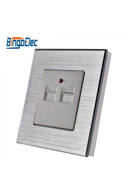 Zásuvka - Dvojité USB 3,1A v hliníkovom rámiku