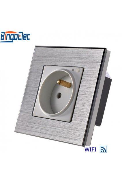 Zásuvka FR WIFI v hliníkovom rámiku