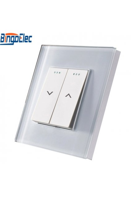 Mechanický ovládač na žalúzie/rolety v sklenenom rámiku