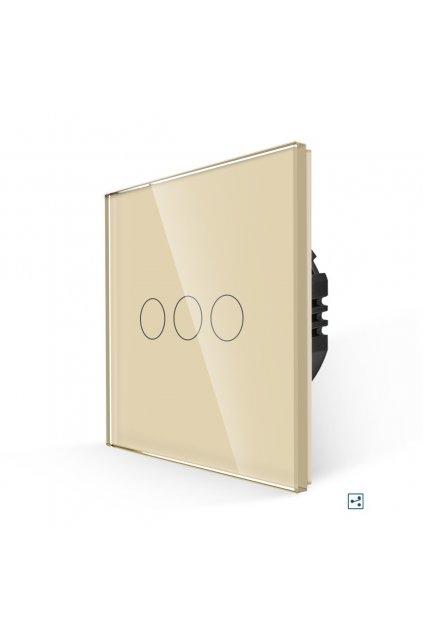 Dotykový vypínač - radenie č.5B (Tri okruhy)