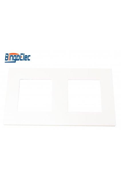Plastový 2-rámik - BIELA