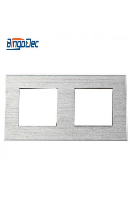 Dvojitý rámik - Brúsený hliník