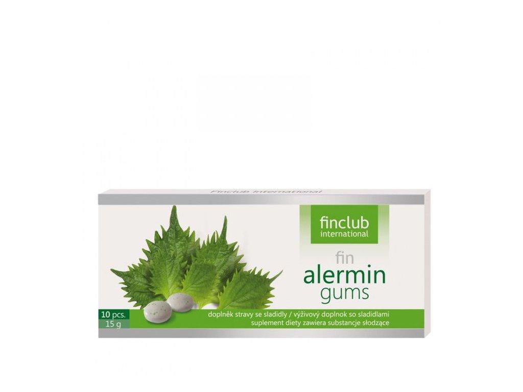 fin Alermin gums 10ks - žvýkačky pro zmírnění ALERGIE