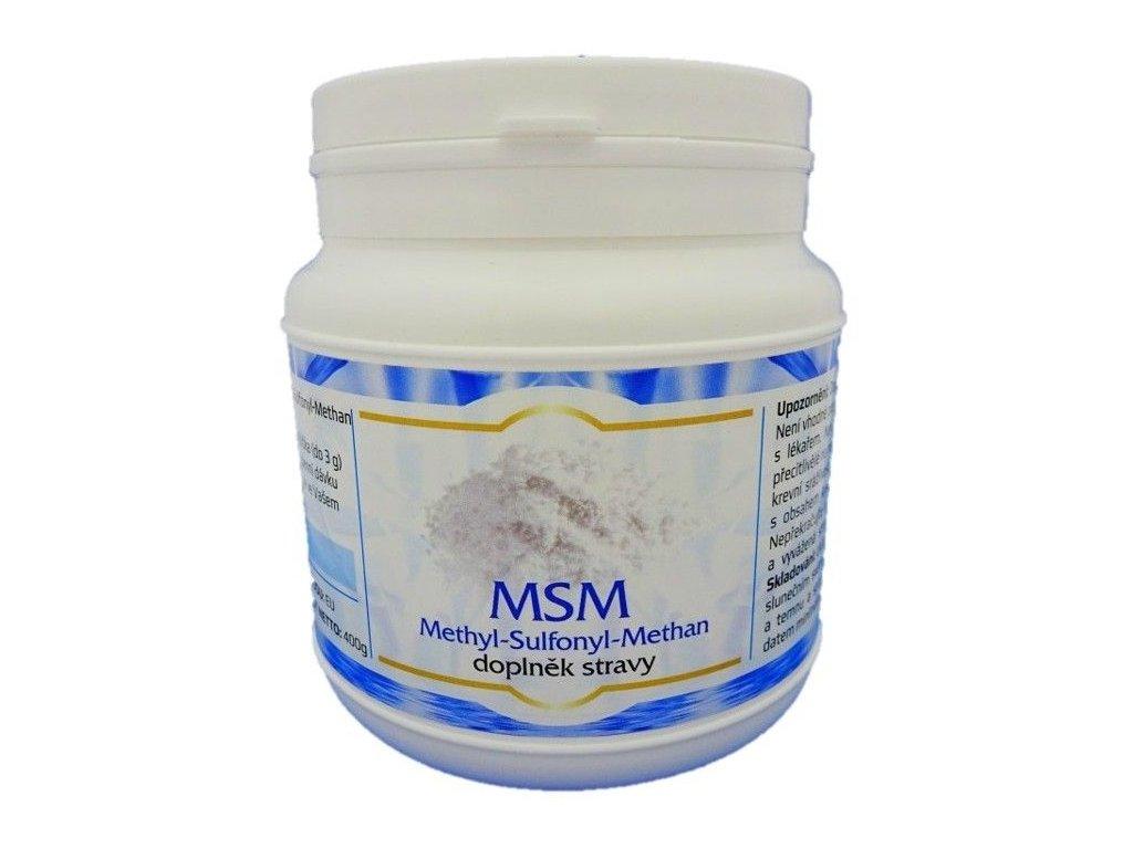 NV MSM Methyl-Sulfonyl-Methan 400g Kloubní výživa