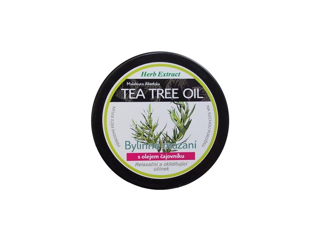 Bylinné mazání s tea tree olejem