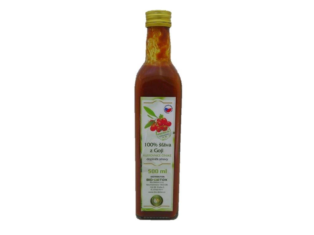 100% šťáva z GOJI Premium Pure s dužinou 500 ml
