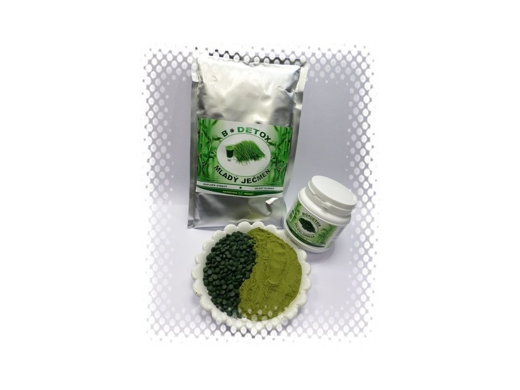 Zvýhodněný balíček Mladý Ječmen 500g + Chlorella 300g