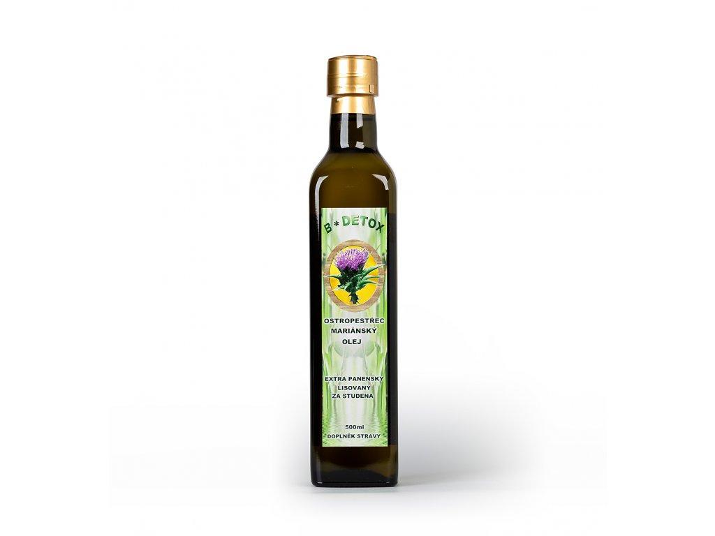 Olej z ostropestřce mariánského  500mll