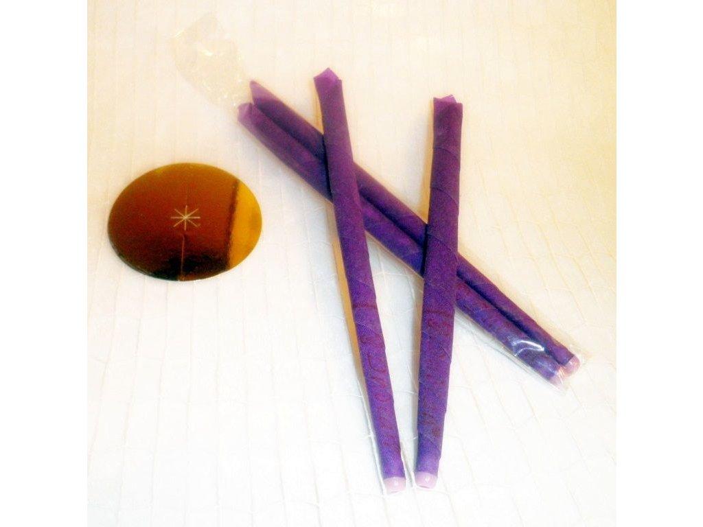 Ušní svíčky 2ks se silicí Levandule