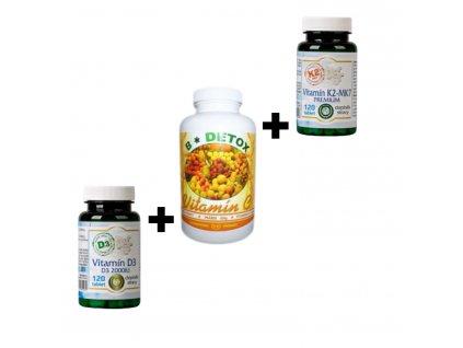 Vitamín C+K2+D3