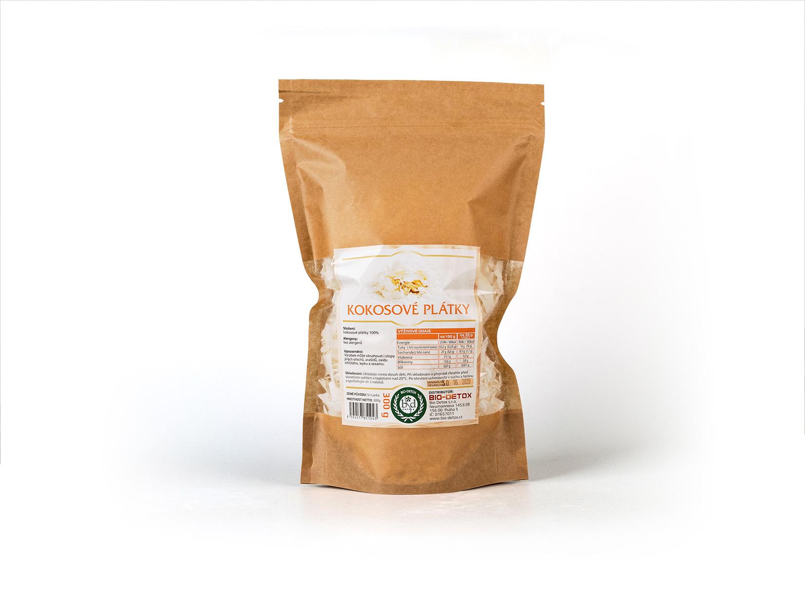 Bio-Detox Kokosové plátky 550g 10% zdarma
