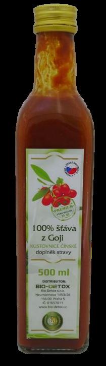 Bio-Detox 100% šťáva z GOJI Premium Pure s dužinou 500 ml