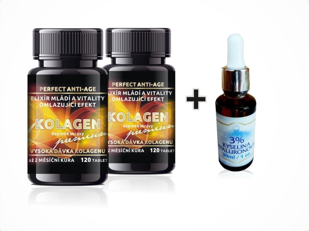 "Kolagen ""Premium Pure"" 2 + 1 Kyselina Hyal. 3% - 30ml ZDARMA"