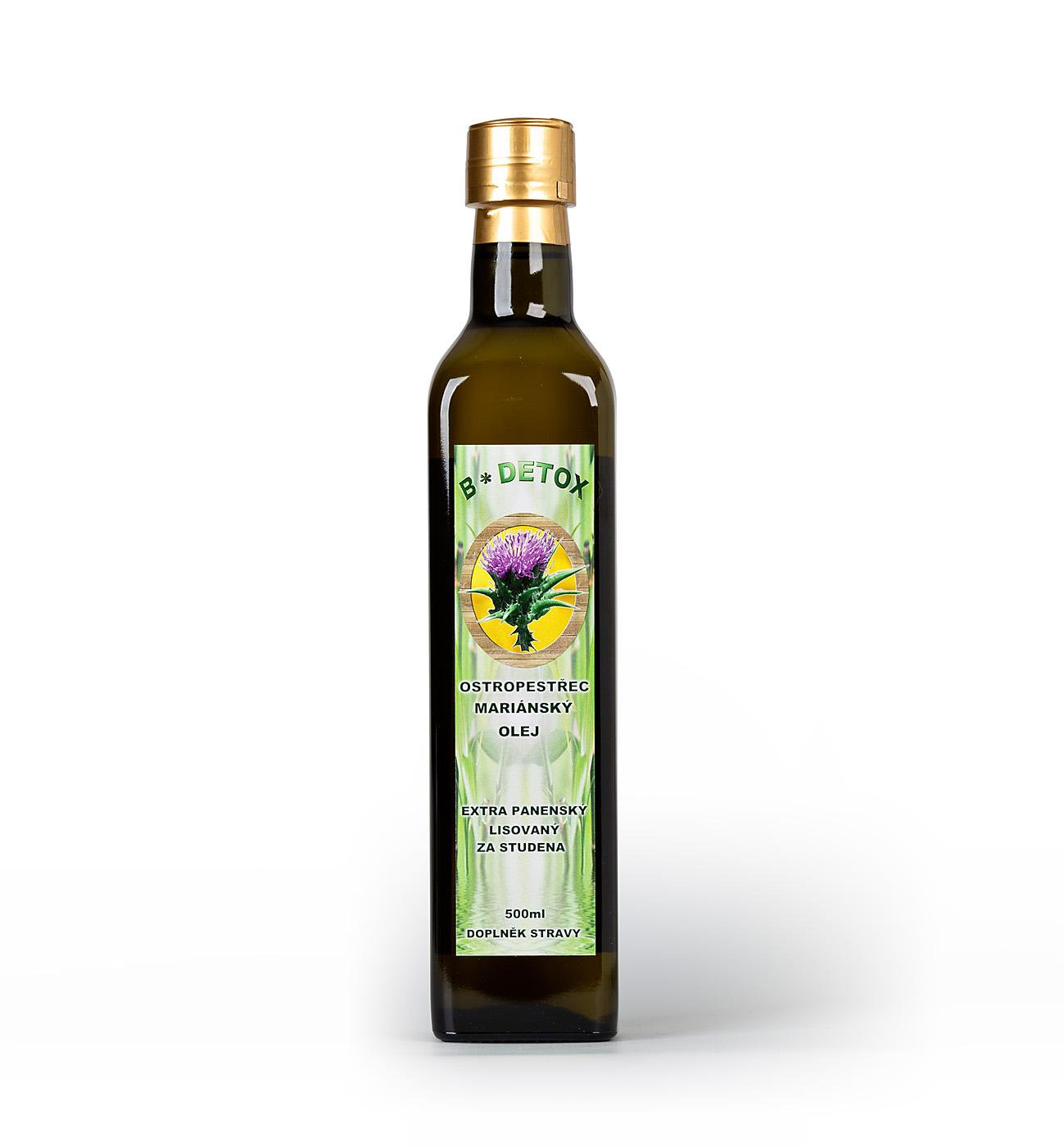 Levně Bio-Detox Extra panenský olej z Ostropestřce mariánského 500 ml