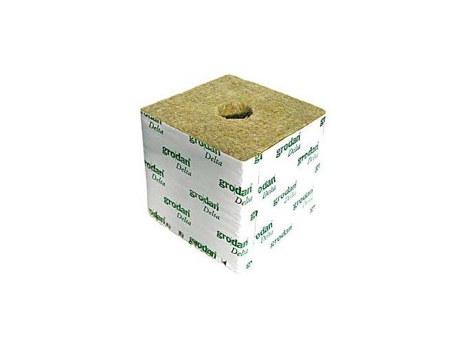 Grodan sadbovací kostka 100×100×65 mm malá díra