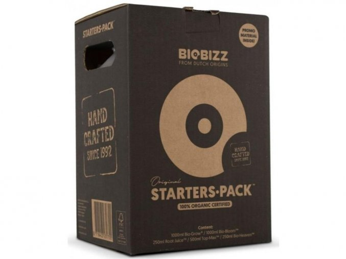 Biobizz Starters Pack bio startovací sada hnojiv a doplňků