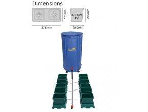 Autopot Easy2grow Kit 12 květináčů Flexitank 100 L