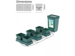 Autopot Easy2grow Kit 6 květináčů nádrž 47 L