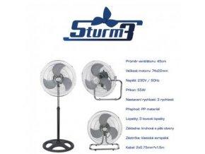 Ventilátor Sturm 45cm