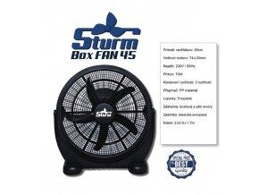 Cirkulační ventilátor STURM BOXFAN průměr 45cm