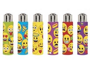 Zapalovač Clipper  Emoji emoticons - Gumové