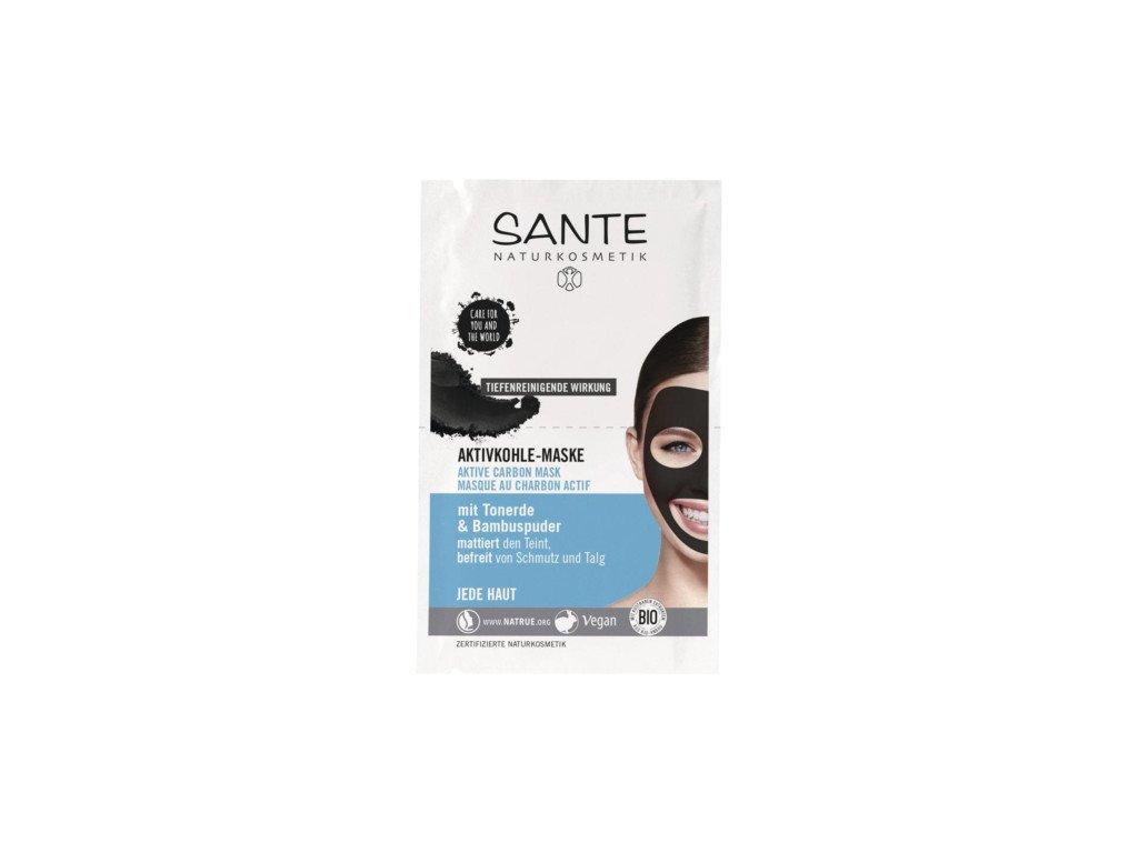 Sante Černá maska na obličej 2x4ml 8ml