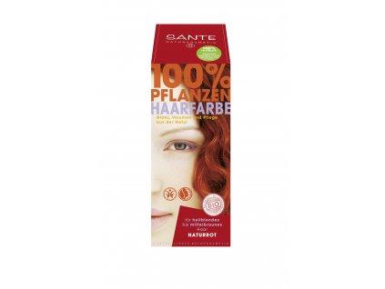 354 sante bio praskova barva na vlasy prirodni cervena 100g