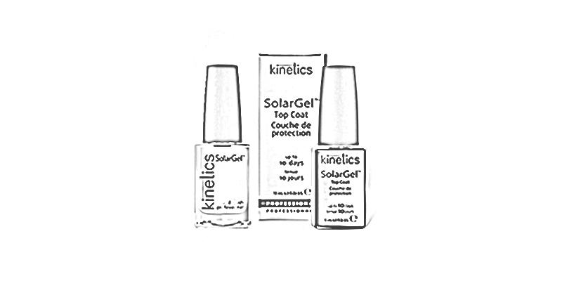 Manikúra a aplikace laku na nehty Kinetics, včetně zpevňovače a výživy