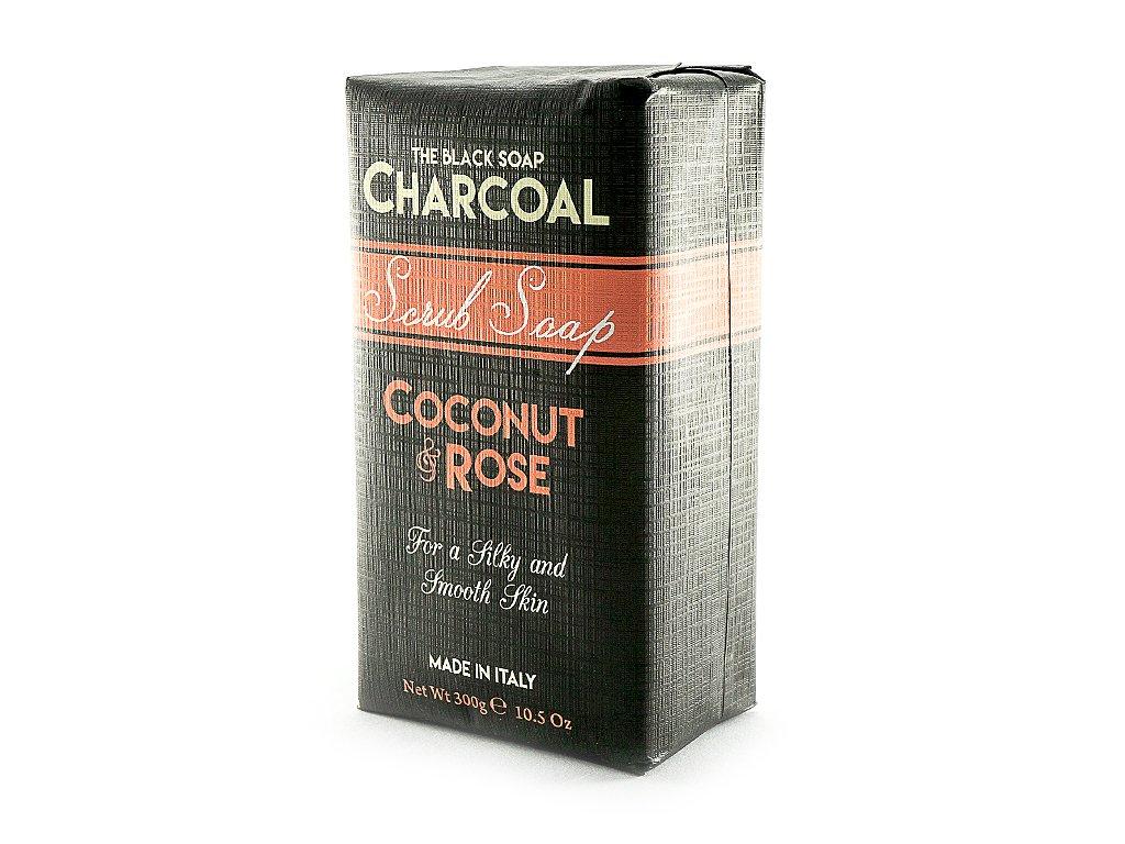 Kokos a Růže 100% přírodní peelingové mýdlo 300g