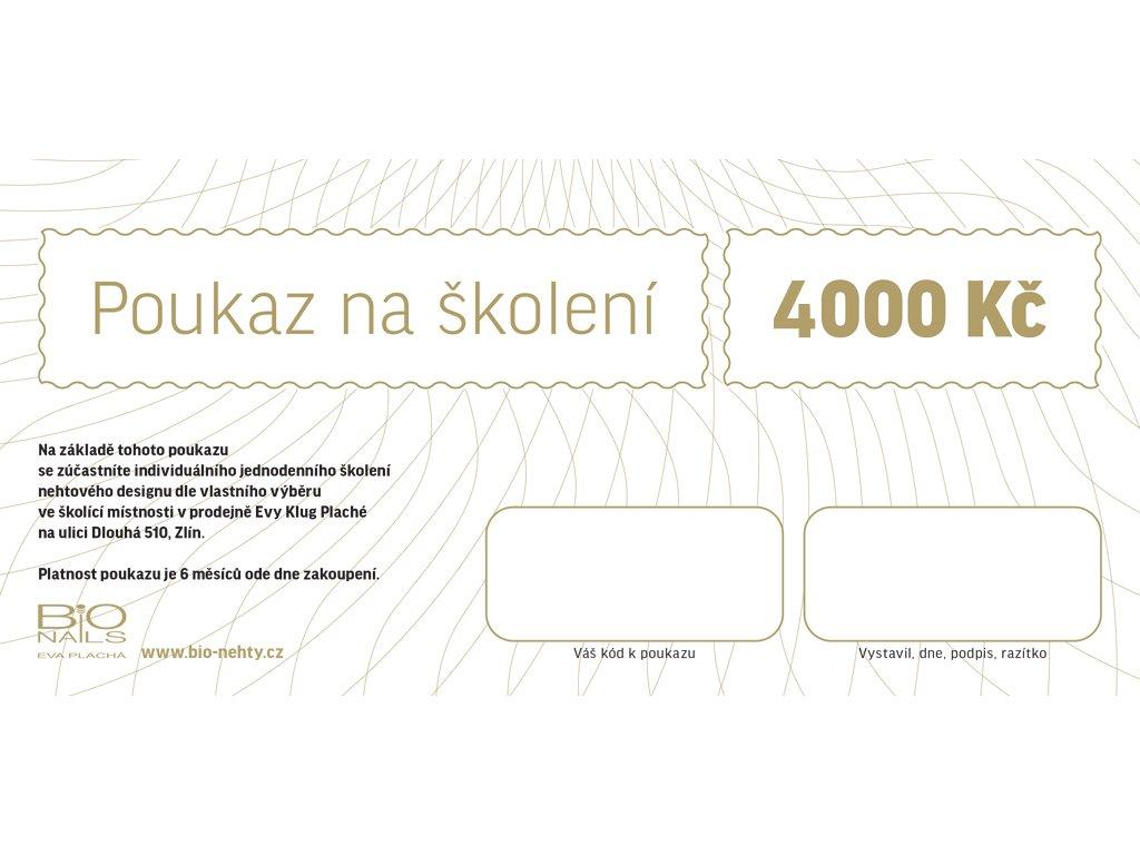 Dárkový poukaz na školení 4000Kč
