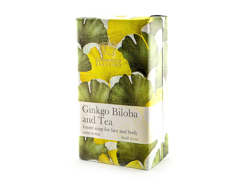 Ginkgo biloba a čaj 100% přírodní mýdlo 300 g