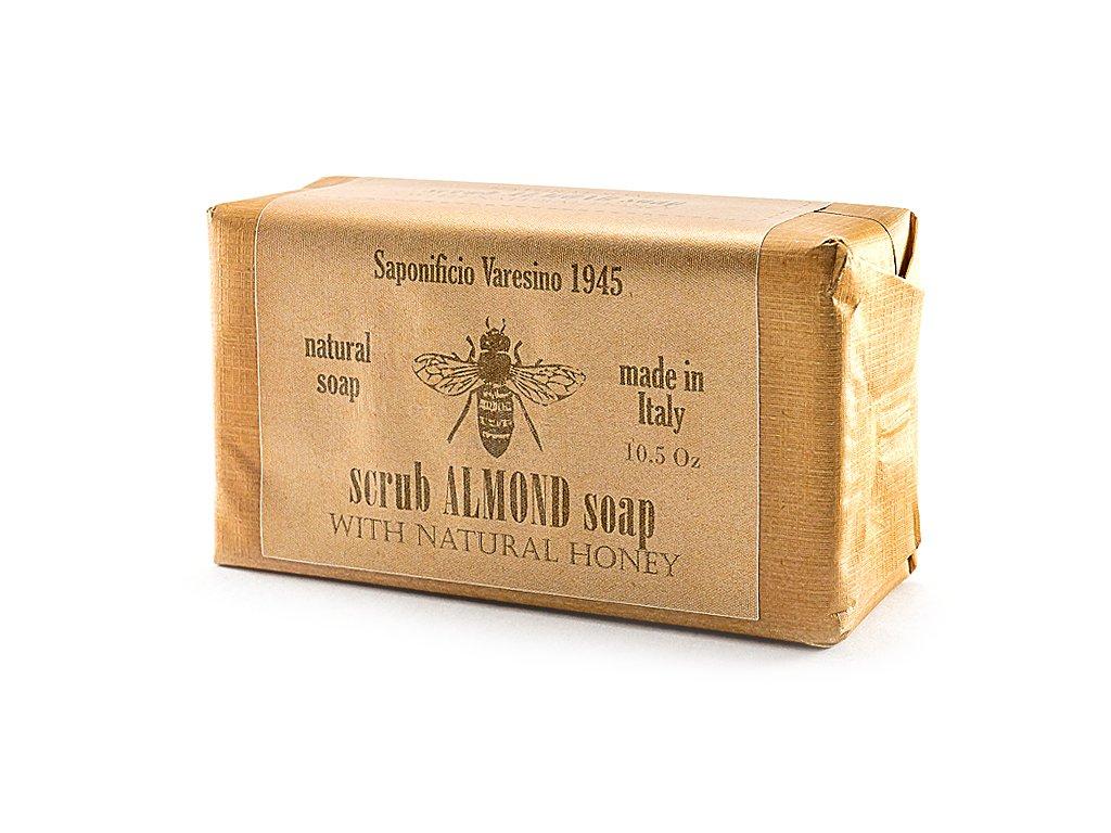 Mandle s medem přírodní peelingové mýdlo 300g