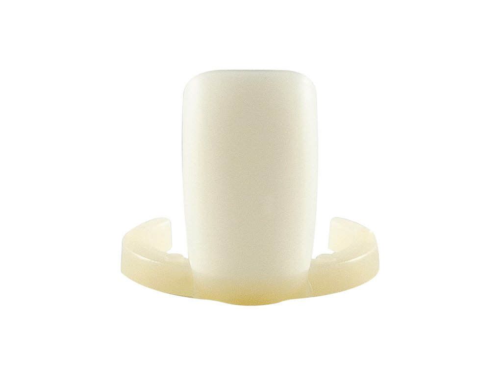 Vzorkovník prstýnek plastový mléčný 10ks