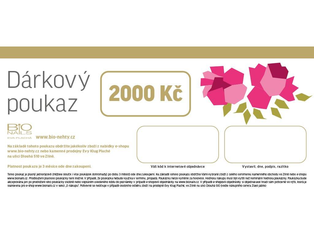 2020 poukaz 2000 bily