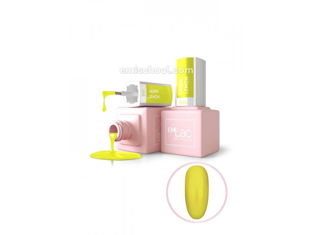 E.MiLac NEON Laser Lemon No051, 9 ml.
