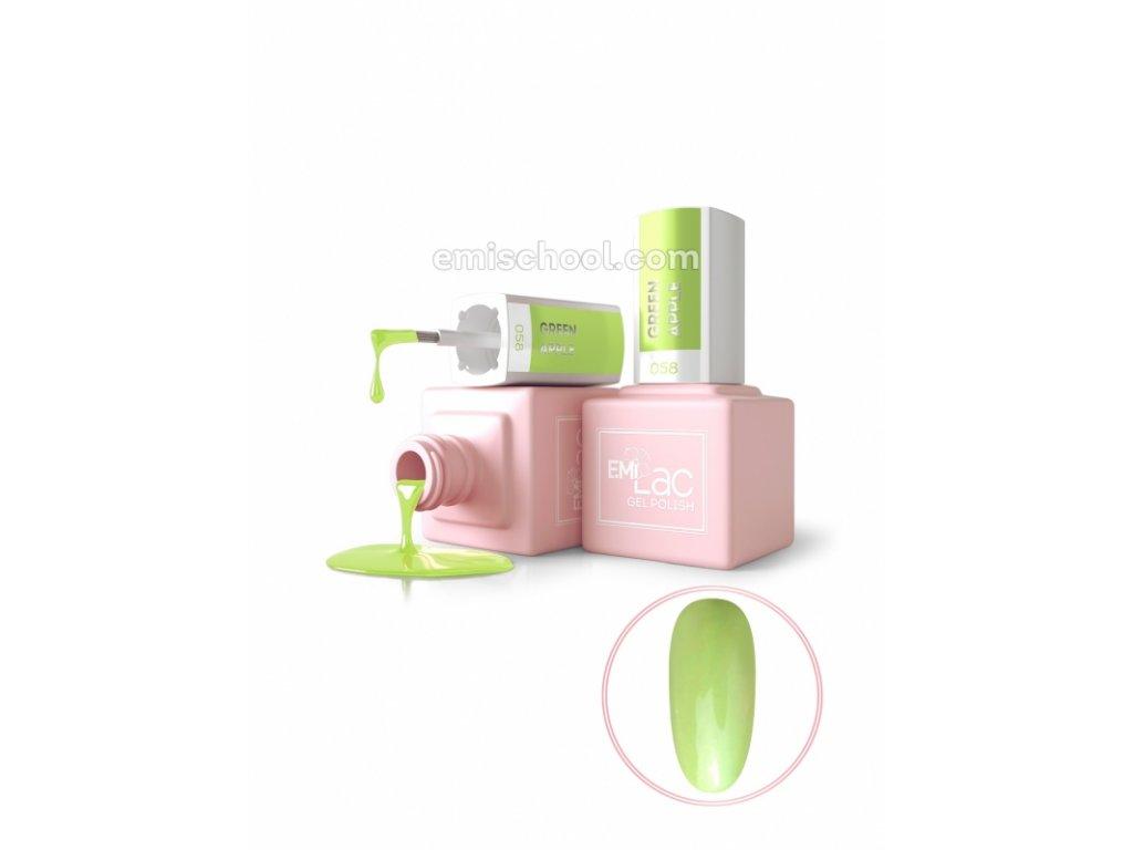 E.MiLac PA Green Apple №058, 9 ml.
