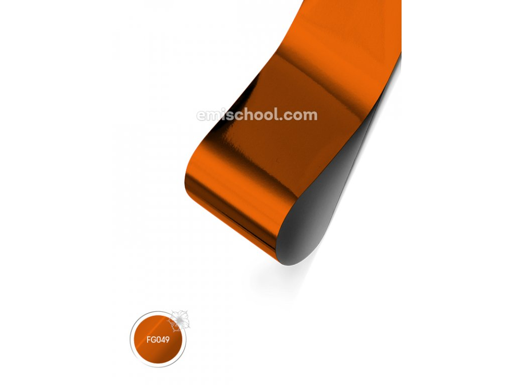 Lesklá fólie Orange Copper 1,5 m.