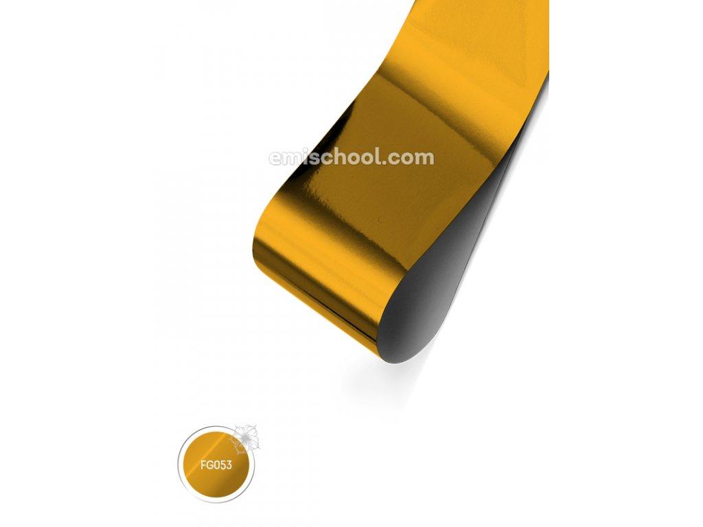 Lesklá fólie Yellow Copper 1,5 m.