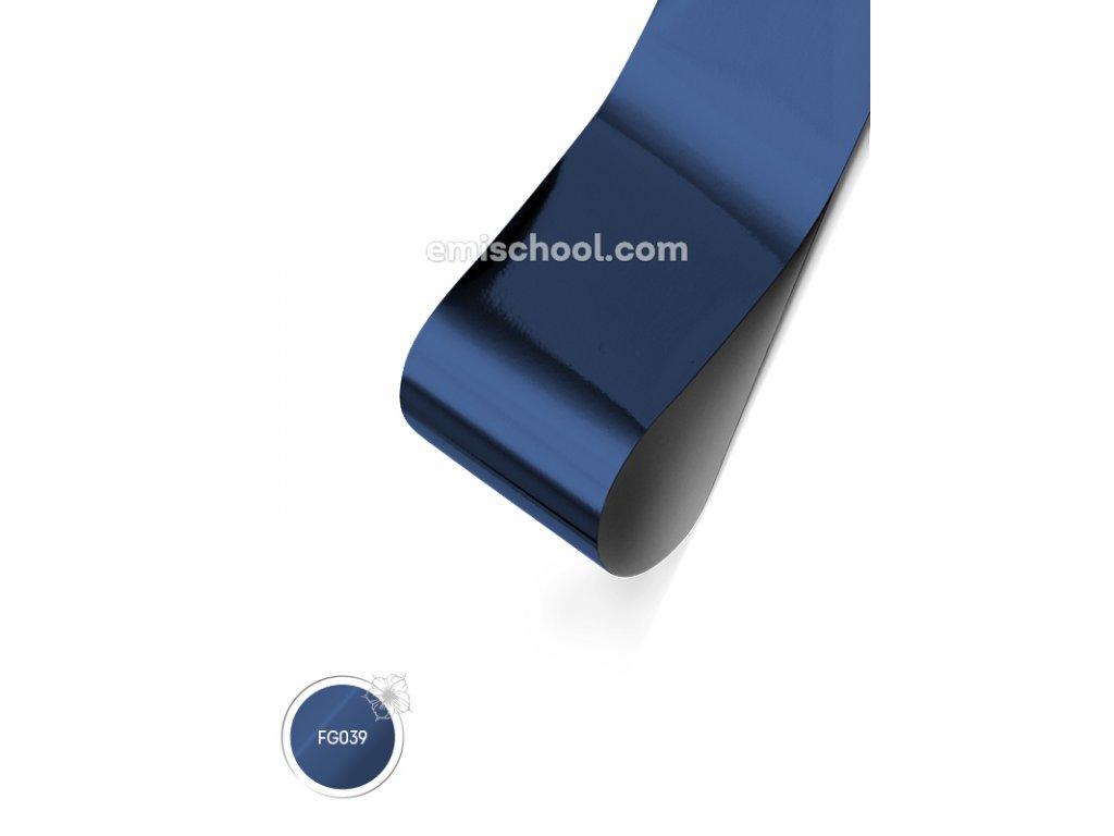 Lesklá fólie Dark Blue 1,5 m.