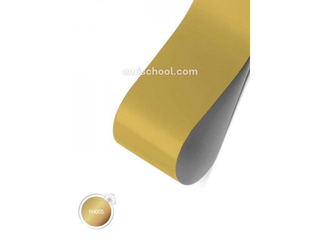 Matná fólie Gold 1,5 m.