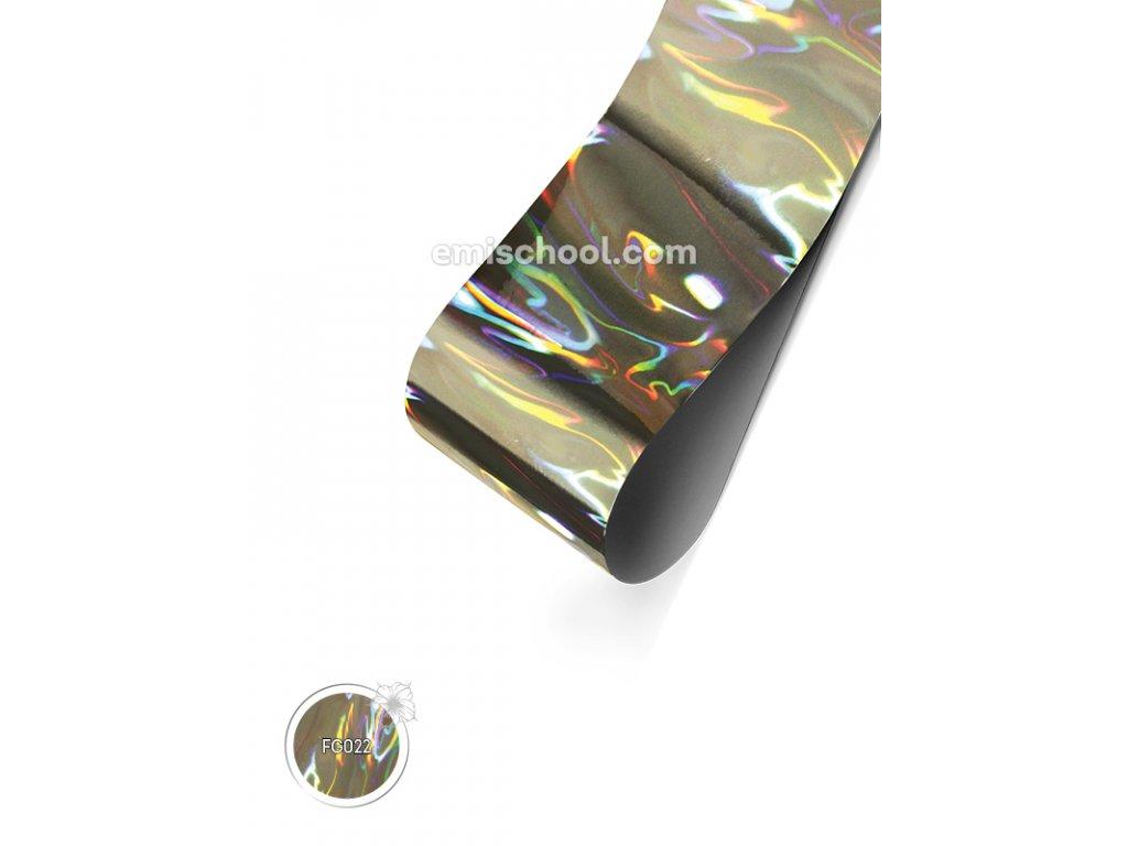 Holografická fólie Silver №04 Flame 1,5 m.