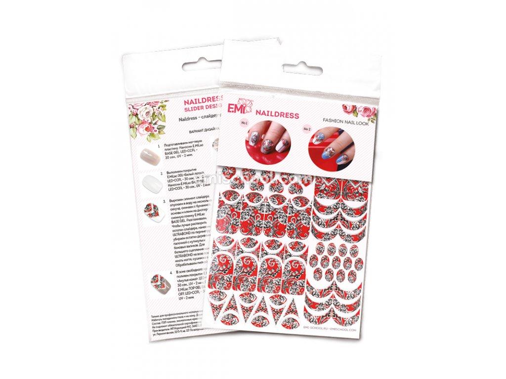 Naildress Slider Design Red SIlk
