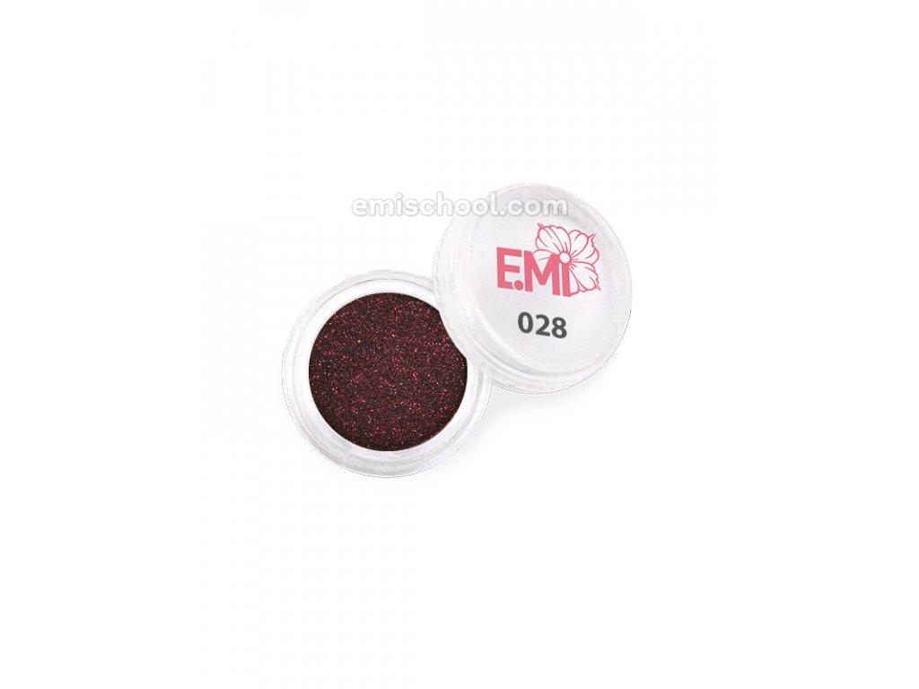 Prach jednobarevný - metalíza №028