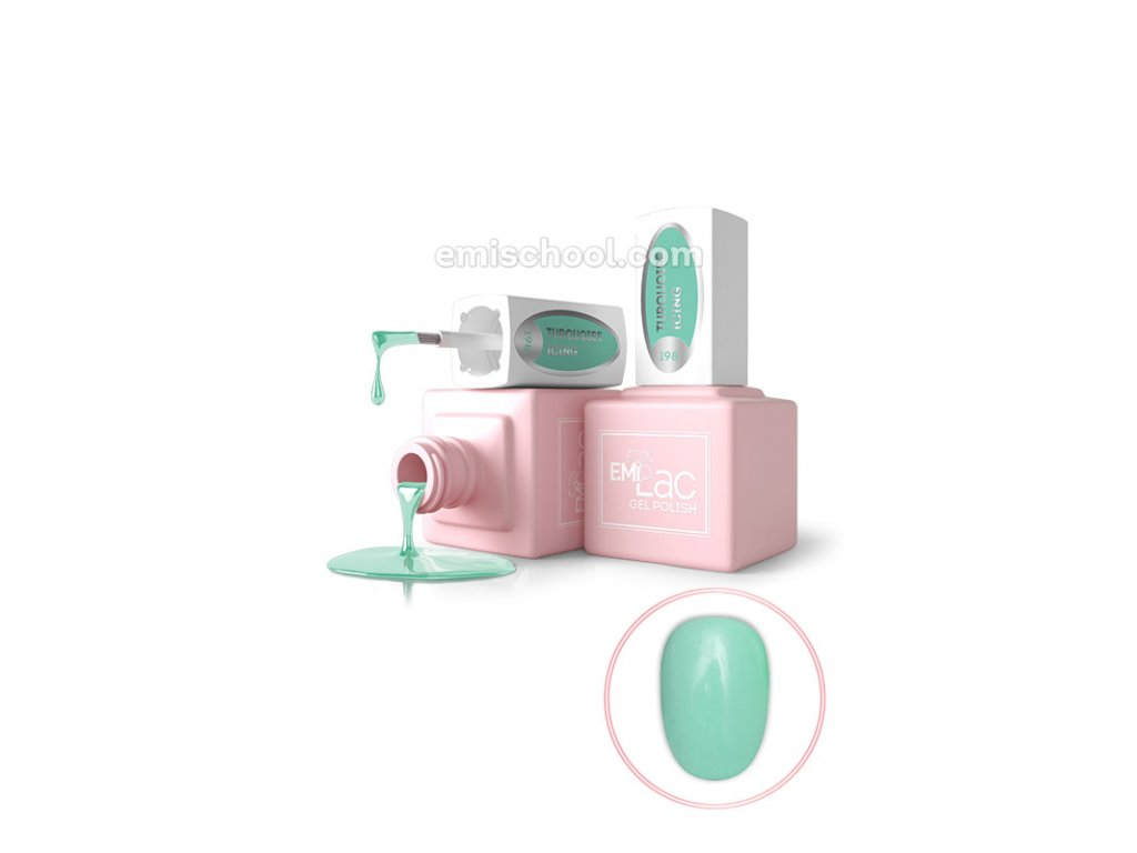 E.MiLac PR Turquoise Icing №198, 9 ml.