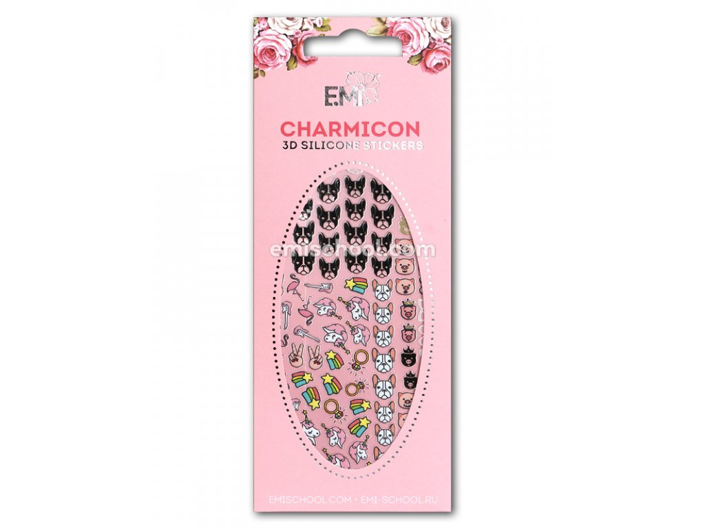 Charmicon 3D Silicone Stickers #64 Icons