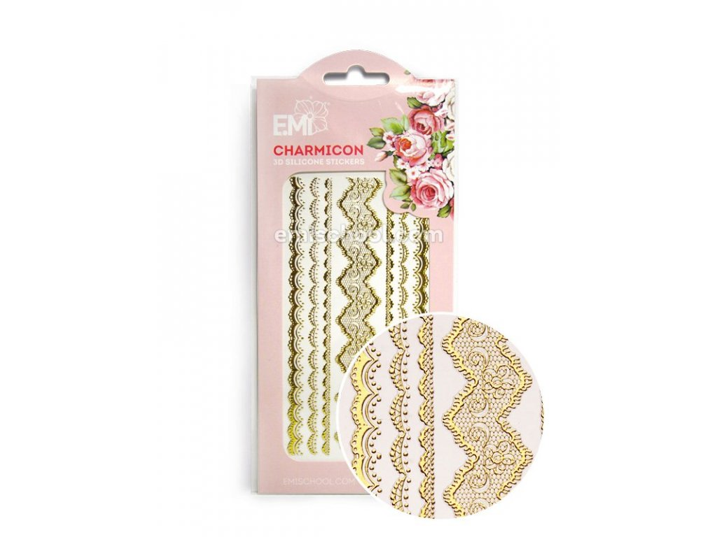 Charmicon 3D Silicone Stickers Lace Gold