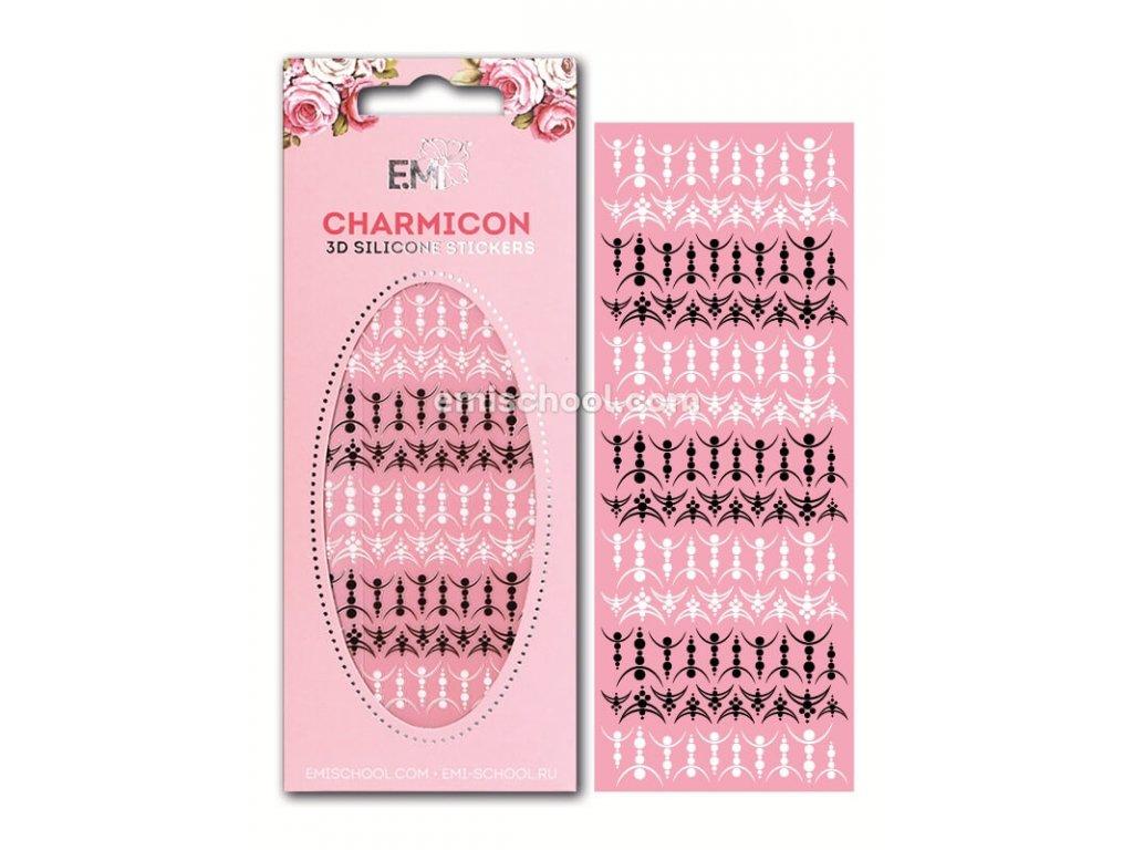Charmicon 3D Silicone Stickers Lunula #28 Black/White