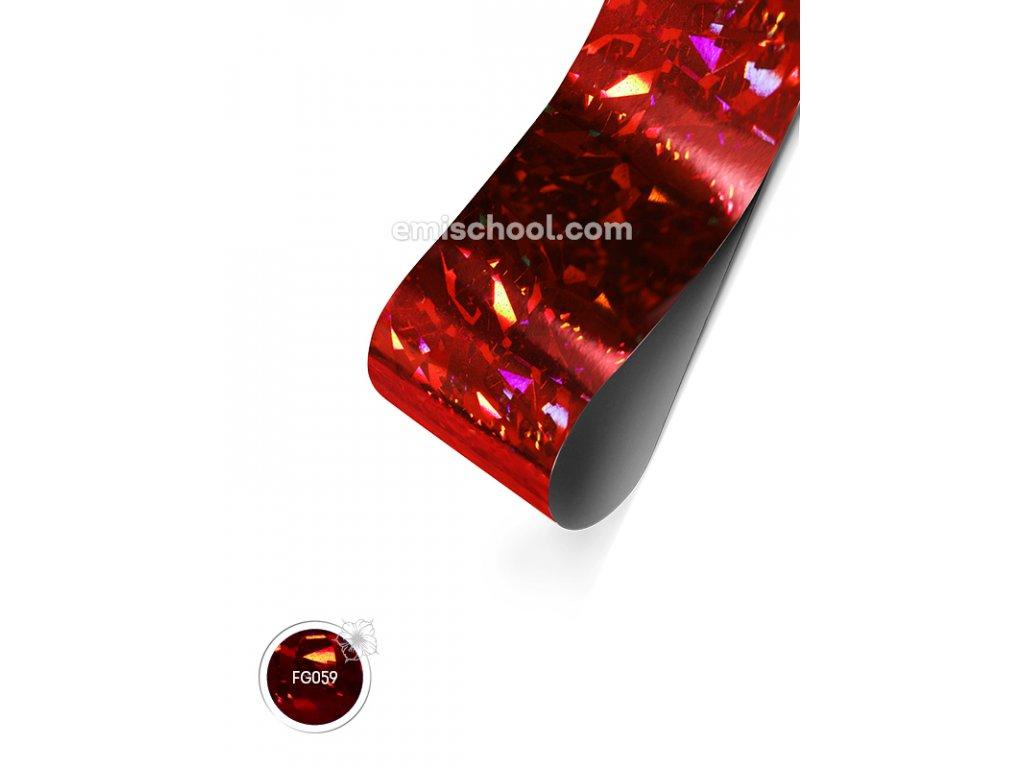Holografická fólie Red Large Crystals 1,5 m.