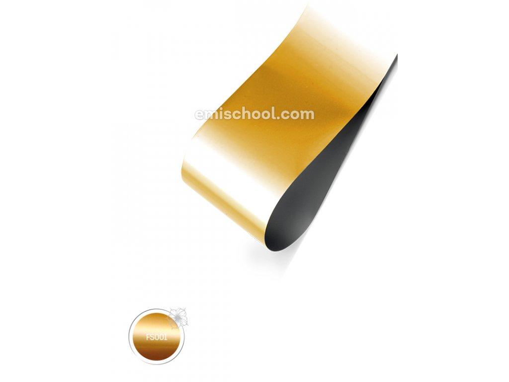 Saténová fólie Gold 1,5 m.